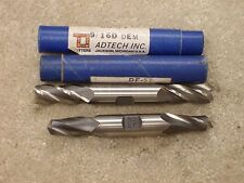 9/16 inch double end 4FL and 9/16 inch double end 2FL Adtech USA Made endmills