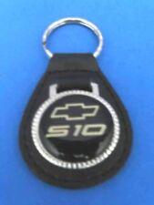 CHEVROLET S-10 BLACK LEATHER KEYRING KEYFOB #062