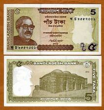 Bangladesh, 5 taka, 2014, P-New, UNC > New Date, New Colors
