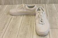 **Vans Old Skool Skate Athletic Shoes, Unisex Size Men's 7, Women's 8.5 - White