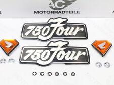 Honda CB 750 Four K3 K4 K5 K6 Seitendeckelemblem Lettering Diamant Set + Clips