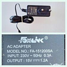 Alimentatore Trasformatore Output 15V-1,2A Foxlink modello:FA-1501200SA