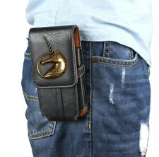 Unicorn Belt Clip Holster Bag Hook Loop Pouch PU Leather Case For BlackBerry