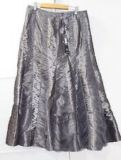 New Marks and Spencer Silver Maxi Skirt Size 10 S £49 Per Una Evening Glam Party