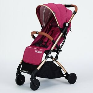 LEJOUX™ FOLDABLE BABY STROLLER PRAM WITH TROLLEY PULL CHILDRENS PUSHCHAIR BUGGY