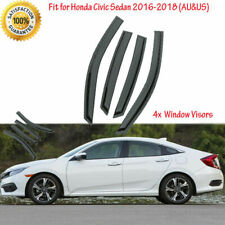 Fit for Honda Civic 2016 2017 2018 Rain Guards Weather Vent Window Visors