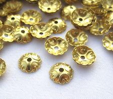 Flower Bead Cap 6mm Brass Filigree Findings Jewelry Supplies ca020-2 (100pcs)