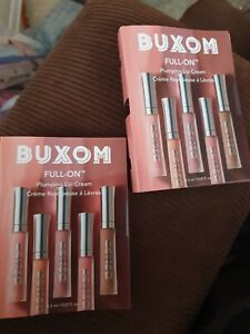 2 X Lot Buxom Full On Plumping Lip Cream White Russian 0.05oz / 1.5ml Carded