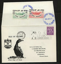 Great  Britain    Isle of  Jethou   cover   1962    MS0928