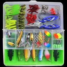 100pcs/set Compartments Fishing Tackle Kit Box Hooks Lure parts Full Loaded USA