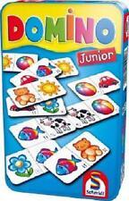 Domino junior von Schmidt Spiele in Metallbox Mitbringspiel Reisespiel Legespiel