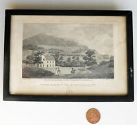 Old engraving Bonchurch Isle of Wight Malton c 18th art landscape framed picture