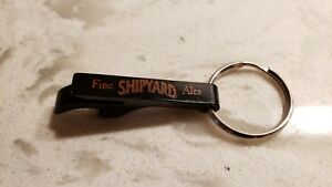 NEW Black Fine Shipyard Ales Key Ring Key Chain Beer Bottle Can Glass Jar Opener