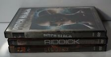 Lot of 3 DVDs Pitch Black - Riddick - The Chronicles Of Riddick Vin Diesel