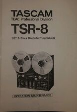 Tascam Teac Tsr-8 tape recorder factory Operation / Maintenance manual