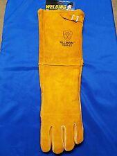 "23"" Tillman X-Long Leather Lined Welding Gloves Large, Bird 1050-23 Gauntlet USA"