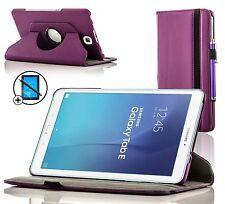 Pelle Viola Custodia Girevole Samsung Galaxy Tab E 9.6 Proteggischermo Stilo