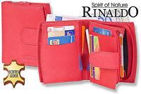 RINALDO Borsellino Donna con molte tasche in rosso in morbido pelle