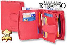 Rinaldo® Femmes Porte-Monnaie avec de Nombreux Compartiments en Rouge Cuir