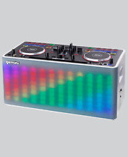 Gemini MIX2GO Portable All-in-One System 2 Channel DJ Controller Lighting Effect