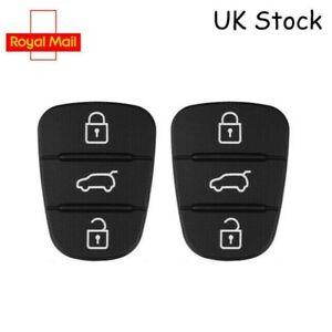 2 x Replacement 3 button rubber pad for Kia Sportage Rio Ceed Picanto flip key