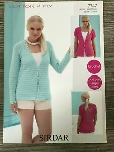 """Ladies Off the Shoulder Sweater Crochet Pattern Chest 32-42/"""" 4Ply  YE343"""