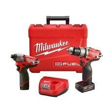 Milwaukee 2597-22 12V M12 Fuel 2 Tool Kit Hammer Drill Impact Driver New