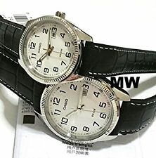 CASIO DATE ANALOG LEATHER DRESS COUPLE LOVER PAIR MTP/LTP-1302L-7B NEW GIFT PAIR