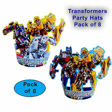 TRANSFORMERS OPTIMUS PRIME BUMBLEBEE PARTY HATS - PARTY ITEMS - PACK OF 8
