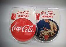 Coca-Cola 2-Pack Round Pocket Mirrors - BRAND NEW!