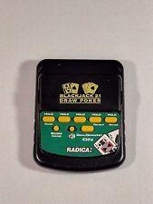 Radica Draw Poker 2000 & Blackjack 21 Flip Top Handheld Game Model #2812 TESTED