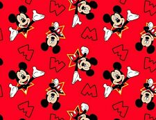FAT QUARTER  DISNEY M IS FOR MICKEY MOUSE CLASSIC FABRIC  POLYESTER COTTON BLEND