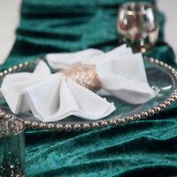 VELVET TABLE RUNNERS 35CM X 275CM 10 COLOURS EVENTS WEDDING DECOR CHRISTMAS