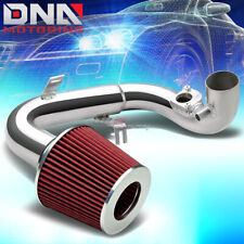 """FOR 04-06 SCION xA COLD AIR INTAKE 2.5"""" PIPING JDM+2.5"""" RED WASHABLE CONE FILTER"""