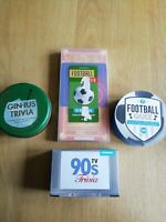 Bundle Of Trivia/Quiz Cards 90's/Football/Gin Games Family Friends Entertainment