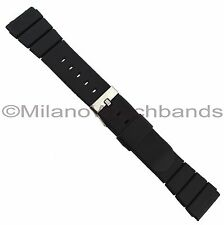 19mm Flex-On Black Rubber Waterproof Sports Strap Watch Band BUY 1 GET 3 FREE