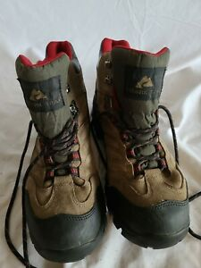Ozark Trail Mens Leather Waterproof Hiking Outdoor Boots Brown Size 9.5