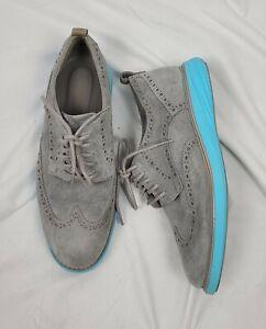 Cole Haan Grand Evolution Men's Gray Leather Wingtip Oxford Shoes sz 7.5M