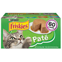 Purina Friskies Pate Wet Cat Food, Variety Pack (5.5 oz., 60 ct.)
