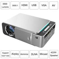 Mini HD LED LCD Projector Movie Video Smart Home Cinema HDMI USB VGA AV EU Plug