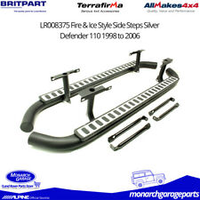 Land Rover Defender 110 Side Steps Fire & Ice Style Silver 1998-2006 LR008375
