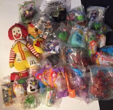 Vtg. Lot of 30 McDonalds Happy Meals / Burger King Kids Club TOYS