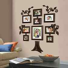 NEW 9 Piece Family Tree Wall Photo Frame Set Picture Collage Home Decor Art Gift
