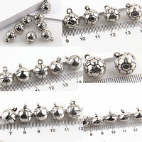 Lot 4/20Pcs Znic Alloy 3D Solid Sport Ball Charms Pendants For DIY Making 11mm
