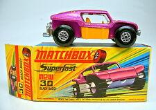 """Matchbox SF nº 30b Beach Buggy lila metalizado, espesor de tubos de escape TOP """"i"""" box"""