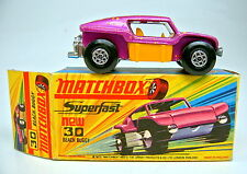 "Matchbox SF Nr.30B Beach Buggy lilametallic, dicke Auspuffrohre top ""I"" Box"