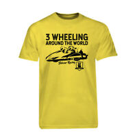 Yellow 3 Wheeling T-shirt Official 3 Wheeling Around the World Sidecar Racing