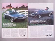 Jaguar XJ6 LOT of 2 PRINT AD - 1985