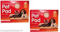 2 x Self Heating Thermal Cat Puppy Dog Mat Bed Animal Pet Warm Washable Rug