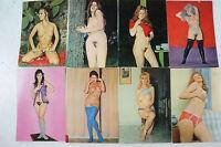 8 Postkarten weibliche Akte künstlerisch ausdrucksstark nicht gelaufen K22